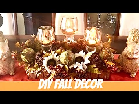 Dollar Tree DIY Fall Candle Holders| DIY Fall Centerpieces Home Decor Ideas