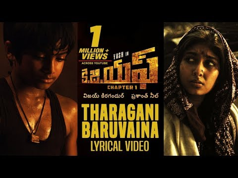 Tharagani Baruvaina Song With Lyrics | KGF Chapter 1 Telugu Movie | Yash, Srinidhi Shetty