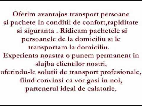 Transport persoane si pachete ROMANIA-ITALIA.