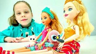 Куклы Эвер Афтер Хай в зоомагазине. Игры для девочек