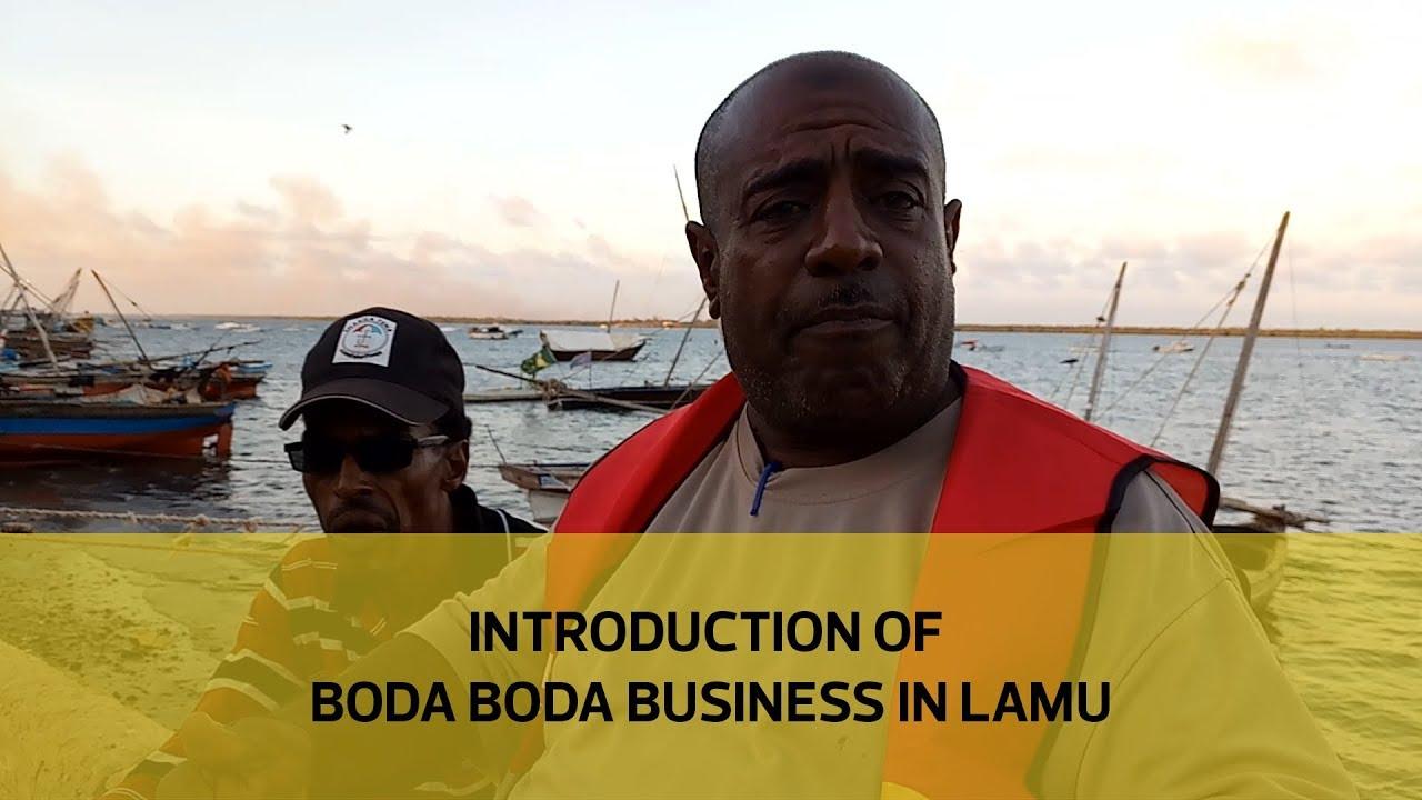 Introduction of boda boda business in Lamu