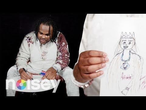 Tee Grizzley Draws a Self-Portrait and Explains Why Rolexes are Important