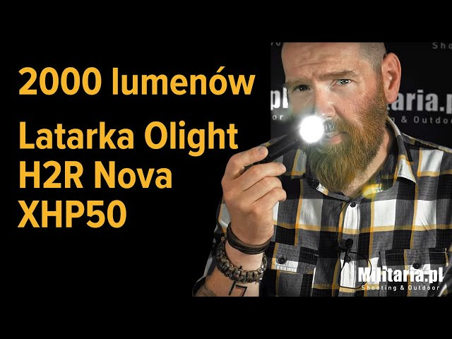 2000 lumenów! Latarka czo?owa Olight Nova H2R XHP50 | Sklep Militaria.pl