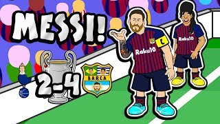 🐐MESSI! The Song!🐐 (Tottenham vs Barcelona 2-4 Champions League Parody Goals Highlights)