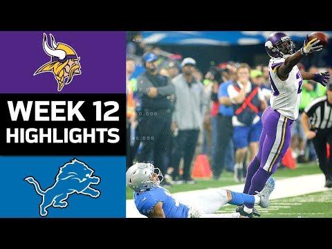 Vikings vs. Lions | NFL Week 12 Game Highlights