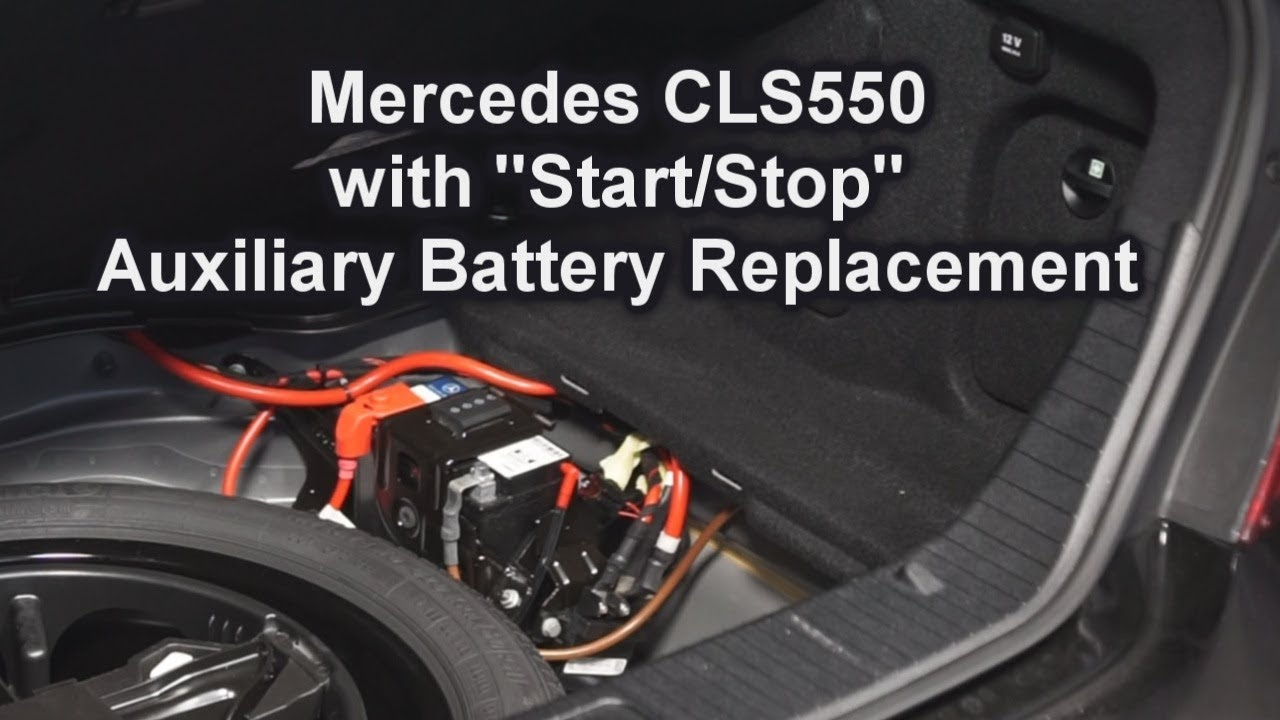 Mercedes Cls550 With Start  Stop Auxiliary Battery