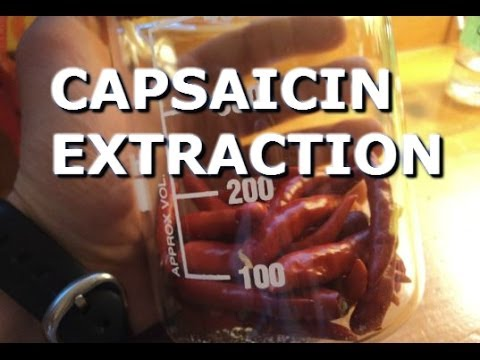 How to extract capsaicin from peppers!