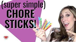 DIY Chore Sticks! Chore Chart Alternative for Kids!   Jordan from Millennial Moms