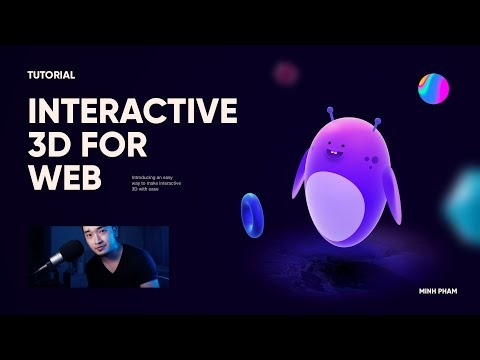 Making a 3D interactive character for web with Spline - Tutorial