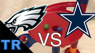 NFL Marble Race: Dallas Cowboys vs Philadelphia Eagles - Toy Racing