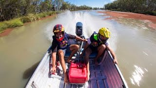 Racing Souped-Up 30hp Dinghies - Riverland Dinghy Derby
