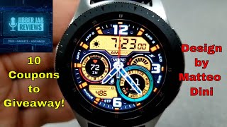 Samsung Galaxy Watch/Gear Watch Faces by Matteo Dini - 10 Coupons to Giveaway! - Jibber Jab Reviews!