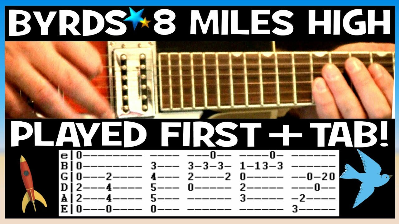 The Byrds Eight Miles High Guitar Lesson with Chords and TAB Tutorial
