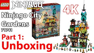 IT'S FINALLY HERE!!! Part 1: UNBOXING of Ninjago City Gardens (LEGO 71741)