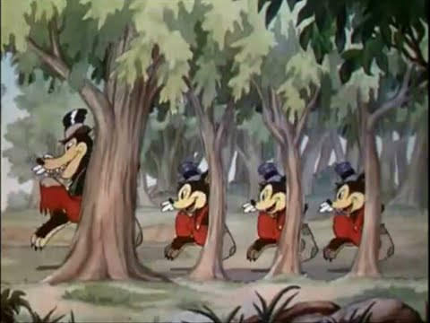 I tre porcellini e i tre lupetti (Three Little Wolves) - Walt Disney, 1936 - Audio sincrono