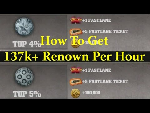 WWE Immortals - How To Get 137k+ Renown Per Hour