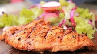 How To Cook Barbecued Chicken With Lettuce And Cabbage Salad By Siddhanth