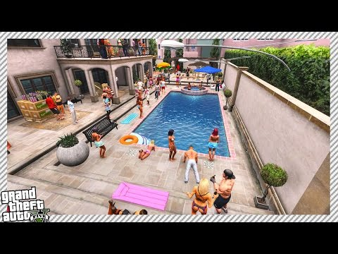 Epic Mansion Pool Party - GTA 5 MOD