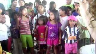 Missão caioa, momento de louvor na aldeia Bororó