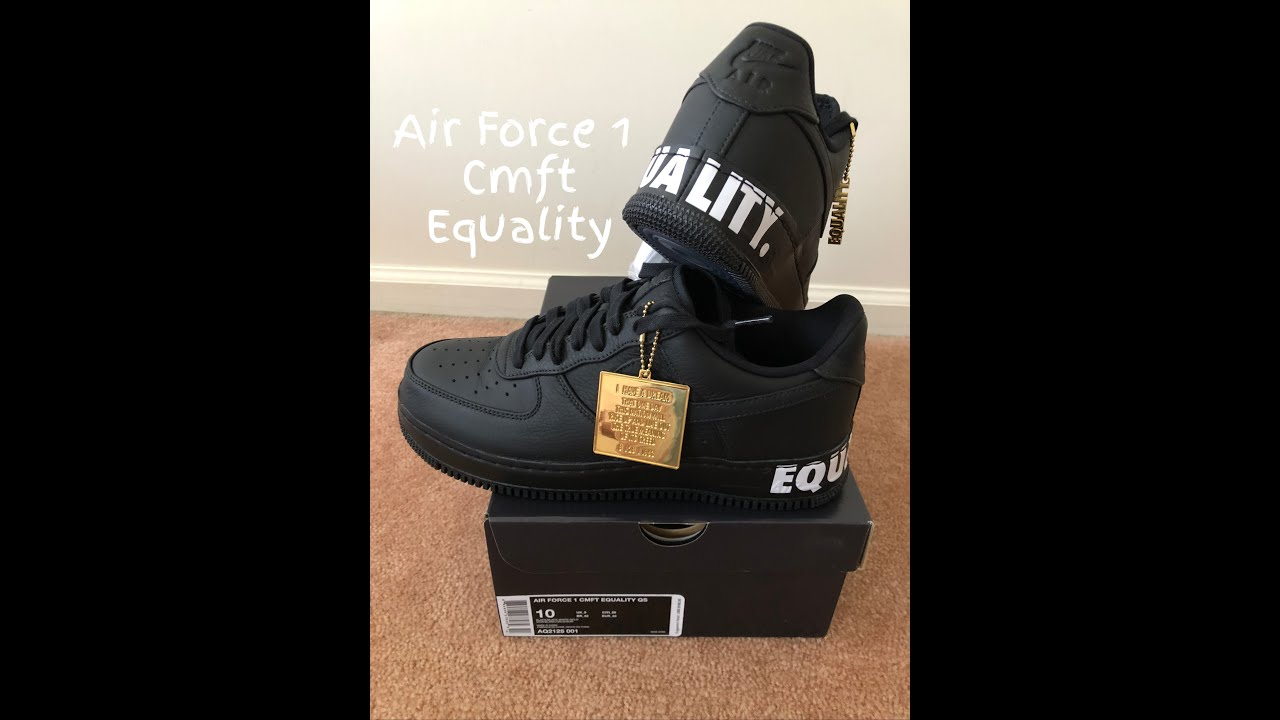 brand new 7b08a 3f0aa Air Force 1 CMFT Equality Unboxing @featurelv
