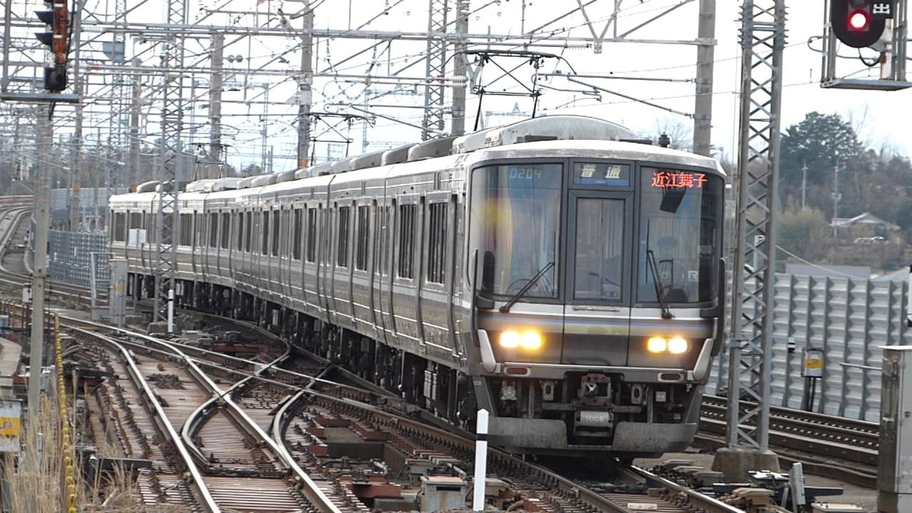 普通列車近江舞子駅折り返し223...