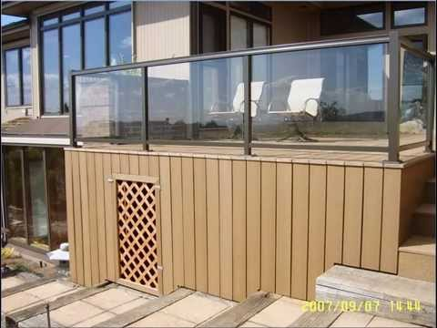 Composite Deck With Glass Railing Bellevue Youtube