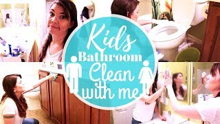 BATHROOM CLEAN WITH ME // CLEANING MOTIVATION // STAY AT HOME MOM