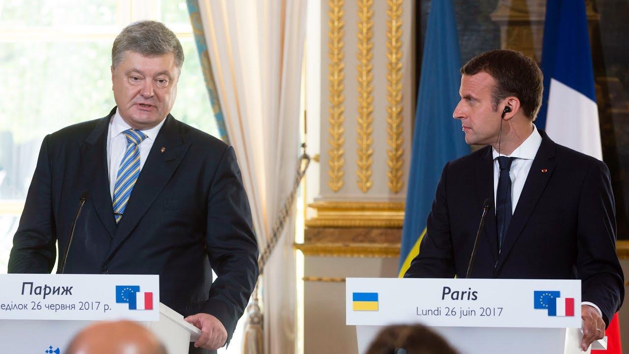 Как прошли переговоры Порошенко и Макрона