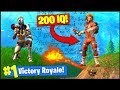 Getting A 200 IQ *WIN* In Fortnite Battle Royale