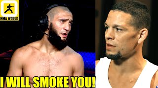 Nate Diaz is just a BULLSH!T Guy he will not fight me-Khamzat Chimaev,Dana on Chimaev's next bout