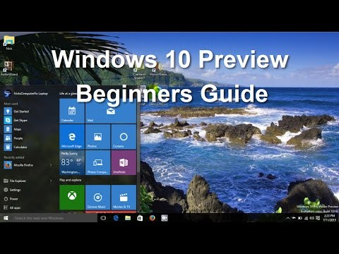 Windows 10! Preview - Tips, Tricks,  Features & Tutorial Review - Beginners Video Guide - Easy Help