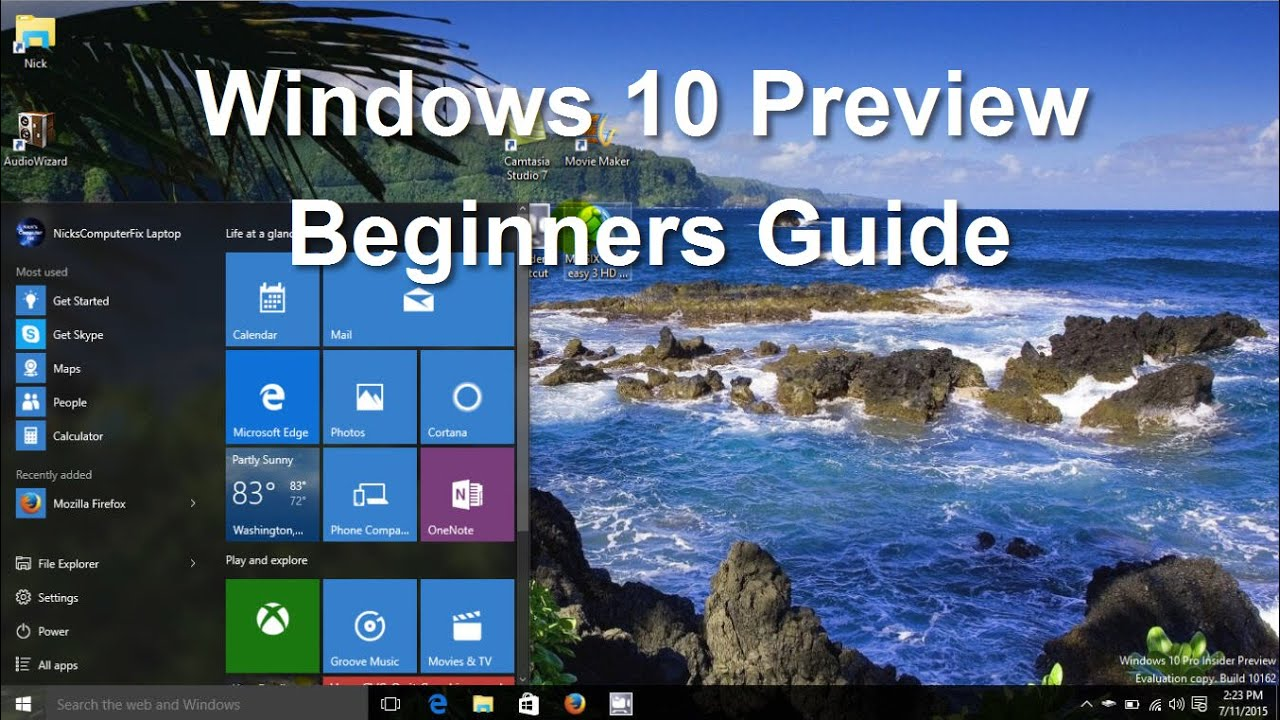 Windows 10 pro review should you upgrade youtube - Windows 10 Preview Tips Tricks Features Tutorial Review Beginners Video Guide Easy Help Youtube