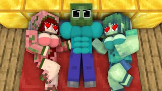 Monster School : POOR BABY ZOMBIE LIFE AND ZOMBIE GIRL - Minecraft Animation