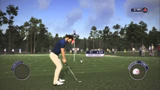 Tiger Woods 14 PS3 Career Playthrough Part 1 - Intro and First Round