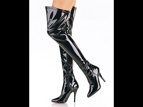 moda di lusso risparmia fino all'80% comprare Thigh High Leather Boots for Women - YouTube