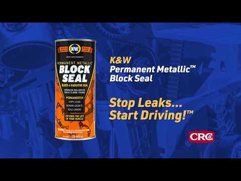 How to repair an engine block or radiator leak with K&W® Block Seal