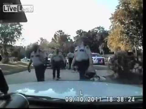 Man beaten, family arrested, dog kicked -- Harris County Texas