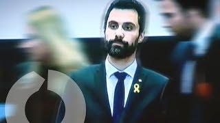 """La cúpula judicial de Catalunya planta a Roger Torrent por su defensa de los """"presos políticos"""""""