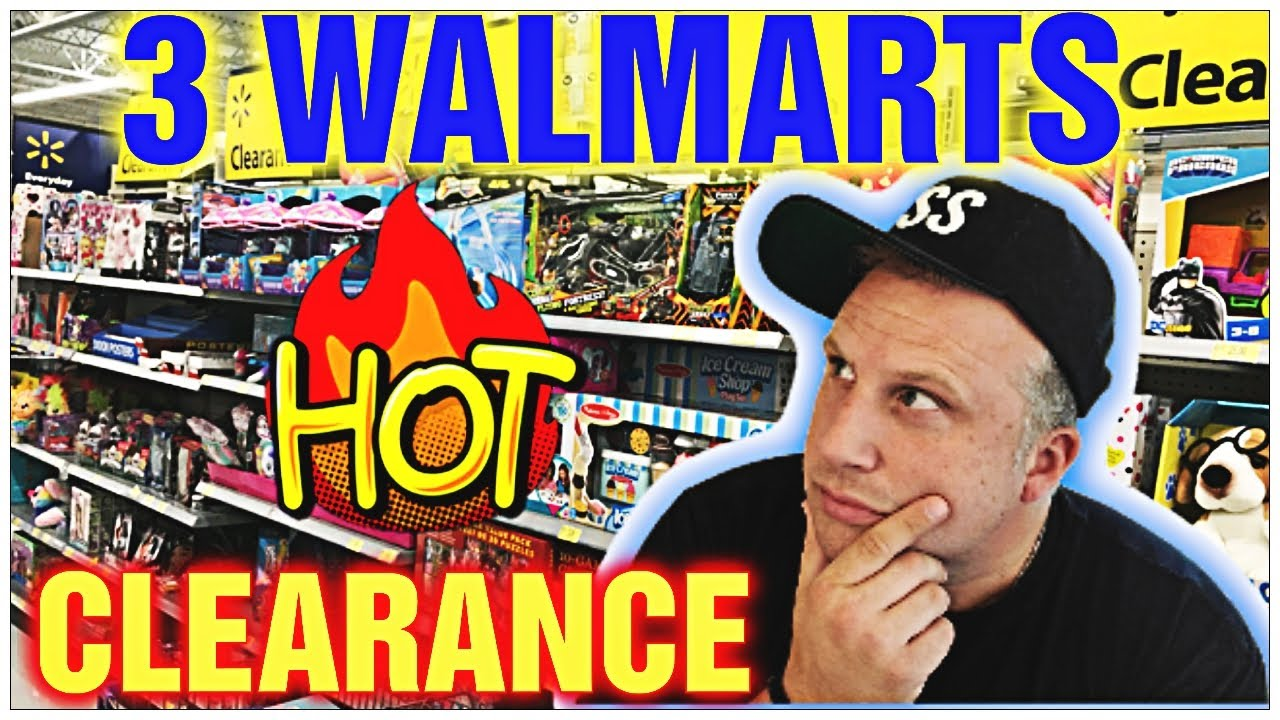 WALMART CLEARANCE || MAKE MONEY BY SELLING WALMART CLEARANCE ITEMS || I WENT TO 3 WALMART STORES