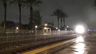 BNSF E/B Stack train going through Fullerton station 2019-01-05