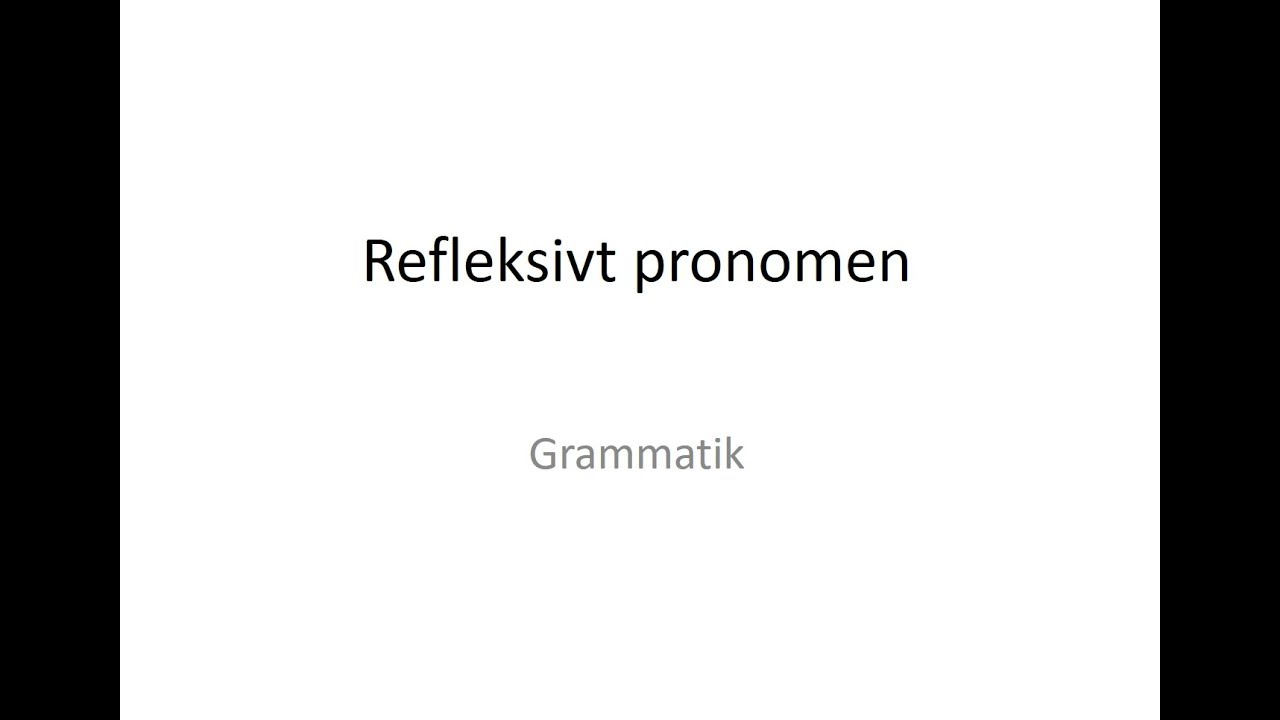 Refleksivt pronomen på tysk