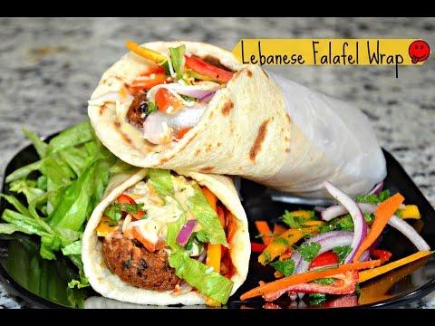 How to make Lebanese Wrap   Falafel Wrap   Falafel Veggie Wraps   hummus wrap   easy falafel recipe