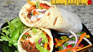 How to make Lebanese Wrap | Falafel Wrap | Lebanese Veggie Wrap | Pita Veggie Wraps