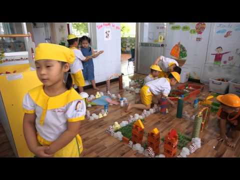 Giờ hoạt động các góc phân vai ở trường mầm non Hạnh Phúc
