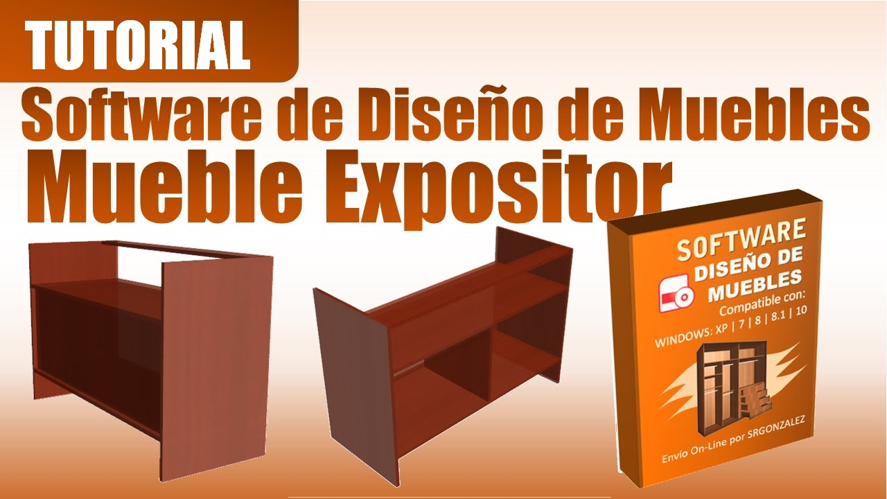 tutorial software de diseño de muebles mueble expositor - youtube - Software Diseno Muebles