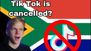 Tiktok getting BANNED in SOUTH AFRICA?