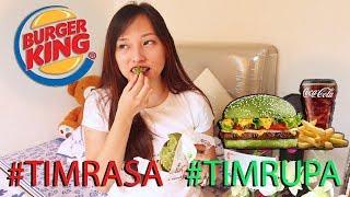 MENU TERBARU BURGER KING? Burger HIJAU??   REVIEW WHOPPER DAMAIAN #TIMRASA