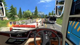 ETS2 : Bus Sinar Jaya Berangkat Pagi Dari Rawalo ke Ajibarang (Siksa Bumper)