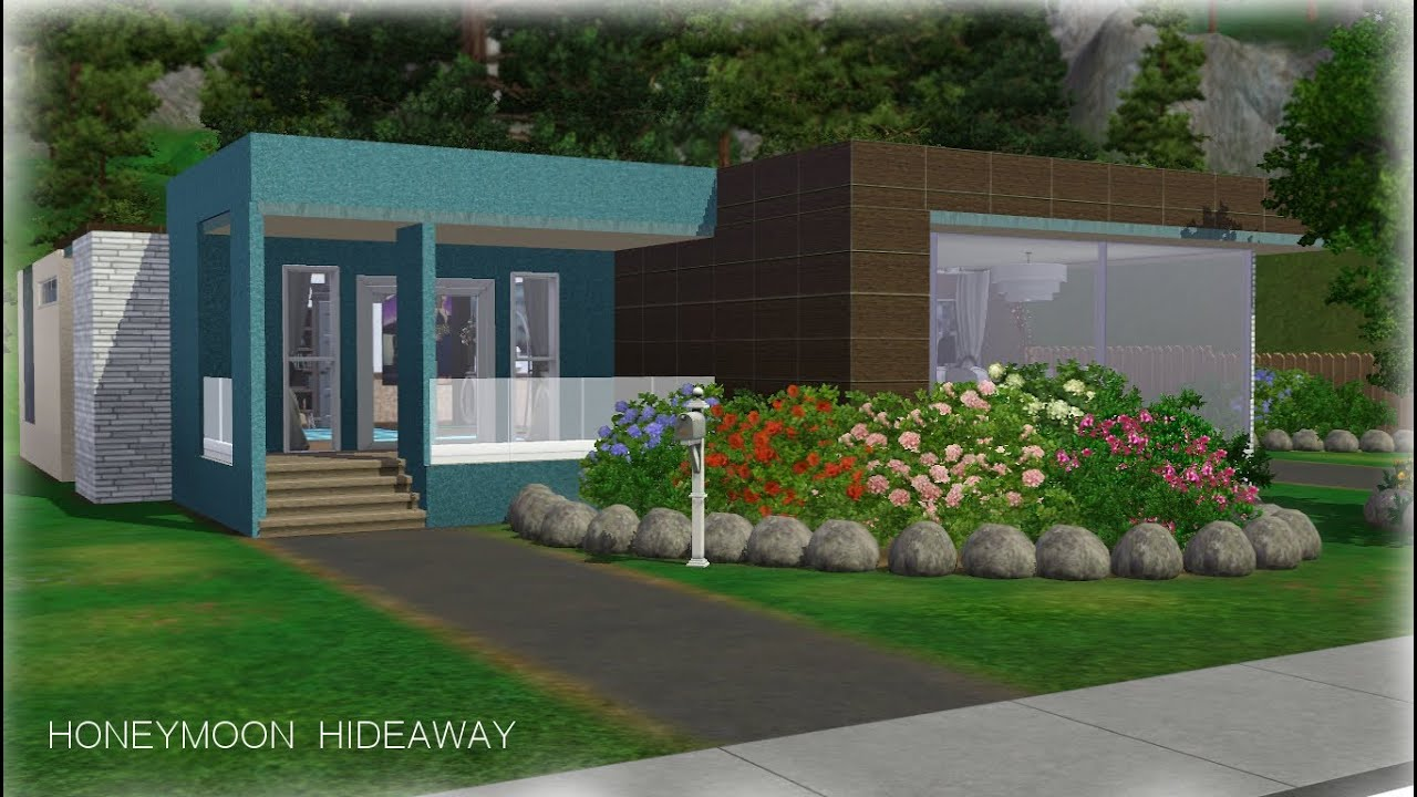 Sims 3 house building honeymoon hideaway youtube for How to go about building a house