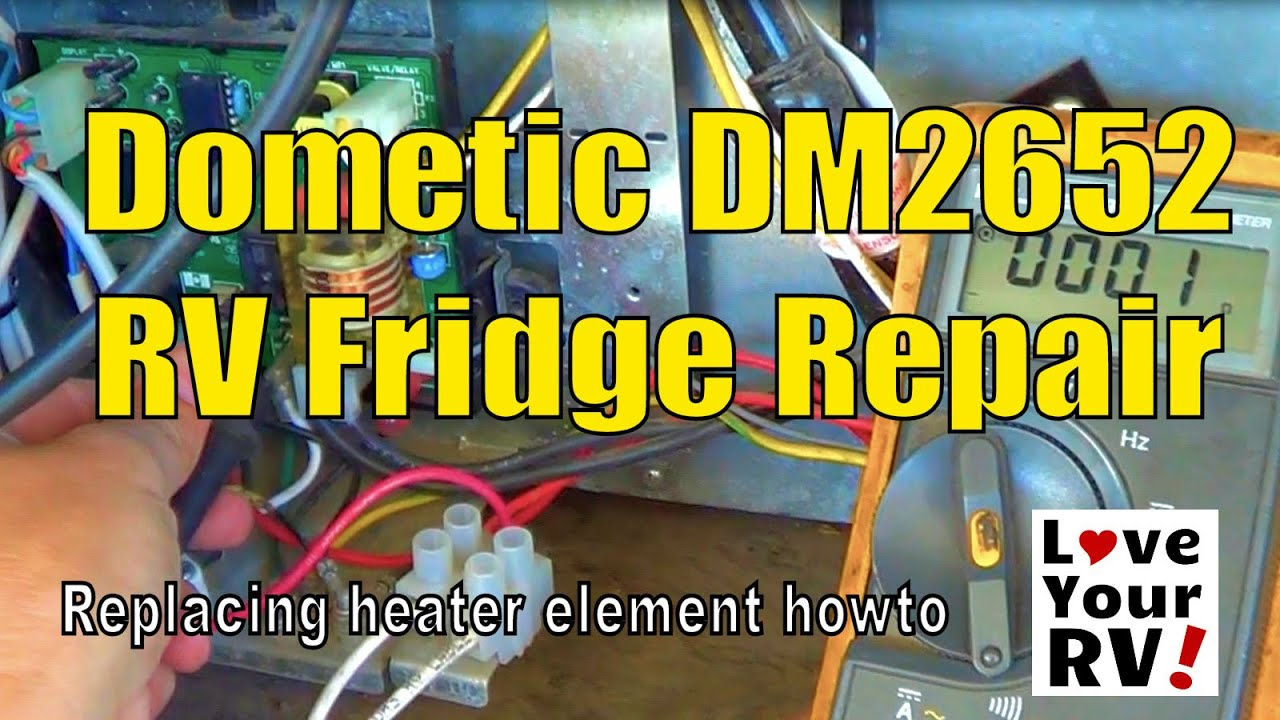 110 Volt Heater Switch Wiring Diagram Dometic Dm2652 Rv Refrigerator Repair Youtube
